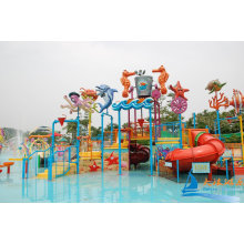 Ocean World Adults Aqua Playground Equipment With Inflatable Water Slides For Water Park