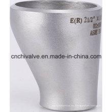 Reductor excéntrico de soldadura a tope de acero inoxidable sin costura