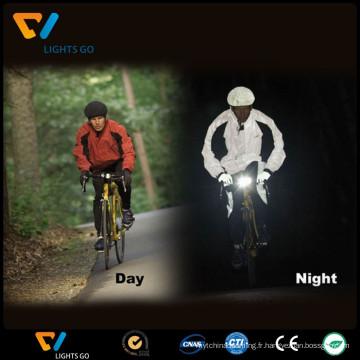 Veste de cyclisme réfléchissante haute visibilité / veste de sécurité réfléchissante