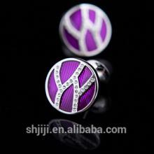 Fashion Lady Flower Cufflink Silver Jewelry