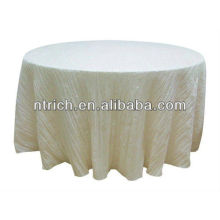 Wrinkled taffeta table cloth, round table cloth, banquet table cloth