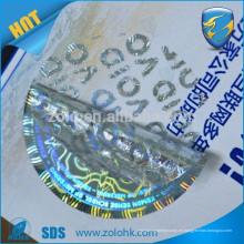 Libre de muestras de anti-falsificación personalizado impreso holograma adhesivo QC pasó etiqueta adhesiva para la protección de la marca