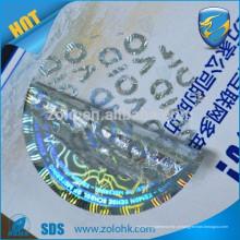 Amostras gratuitas anti-contrafacção personalizada adesivo impresso adesivo holograma holofote aprovado para proteção de marca