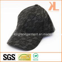 PVC & Lace Quality Fashion Lady Black Baseball Cap