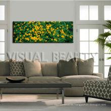 Arte natural de la pared de la lona de la flor para la decoración casera / lona panorámica de la imagen