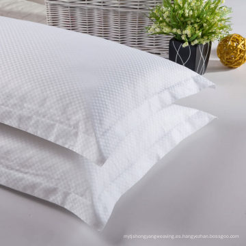 Satin Check 100% funda de almohada de algodón (WSPC-2016013)