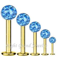 Chirurgischer Edelstahl 316L Gold plattiert Fabrik Preis Lippe Piercing Low