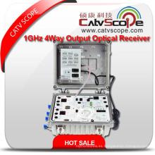 Receptor óptico de salida de 4 vías de 1 vatio de la red Hfc del CATV del alto rendimiento
