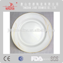 Venda por atacado cerâmica branca prato de jantar cerâmica prato de frutas