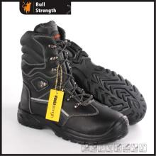 PU/Rubber Außensohle Serie Echtleder Stiefel mit Stahlkappe (SN5492)