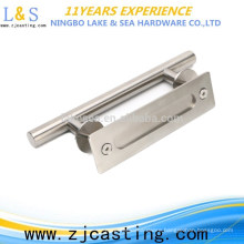 stainless steel wooden door and interior door handle