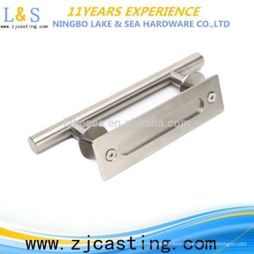 stainless steel wooden door and interior door handle