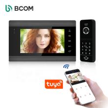New style oem long distance balck waterproof sd card smart wifi tuya wireless video doorbell campanello wireless door bell set