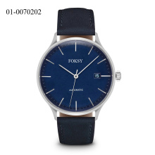 Fashion Stainless Steel genuine leather unisex watch OEM Japan Quartz Women men