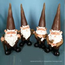 Gnome de jardin Polyresin Décoration de jardin Ennemi de travail