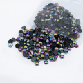 Les ventes d'usine A18-noir AB ont coloré la moitié coloré Flatback ABS perle en vrac