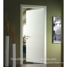 Interior roon morden design white primer flush door price, cheap door