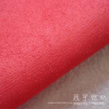 Faux Suede Polyester Compound Fabric con respaldo T / C