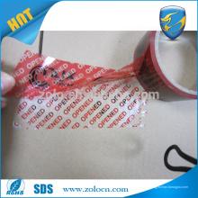Sites d'importation chinois Ruban de garantie personnalisé Ruban imprimé anti-effraction Ruban d'emballage personnalisé avec code à barres