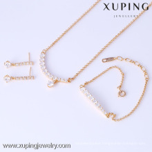 61626-Xuping Modern Stylish Slim Stick Shape 3-Piece Jewelry Set