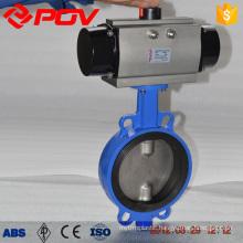 d671x cast iron wafer pneumatic butterfly valve