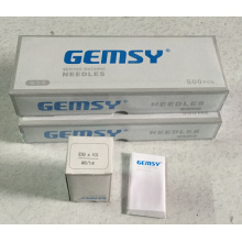 GEMSY brand needles used in embroidery machine