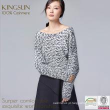 Impressão digital Caxemira, Camisola de cashmere Índia, Pullover Mulher