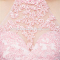 Cute mini design pink color laced halter wedding gowns bridesmaid dresses
