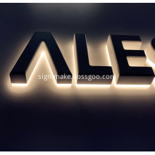 Backlit Stainless Letters Signage Box