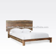 Wooden Live Edge Natürliches Finish Bett