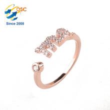 Hohe Qualität Freies Verschiffen Mehrere Ring Box Neueste Schmuck Designs 14 Karat Gold Rose Ring