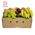 Oem fashion recyclable cardboard box for fruit and vegetable