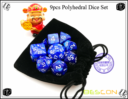 9pcs Polyhedral Dice Set-2