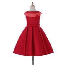 Sheer тюль платье девушки цветка для свадьбы и торжественных
