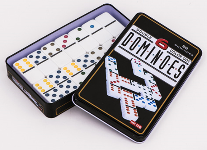 Dominoes In Tin Box