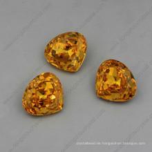 Gelbe Strasssteine Schmuck Perlen Hohe Qualität