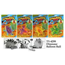 Brinquedo com bola de balão de dinossauro