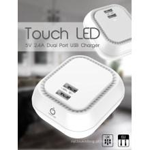 Carregador USB LED para carregador de telefone 5V2.4A