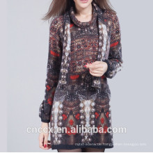 15STC5201 Cashmere Printed Dress Sweater