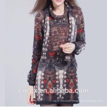 15STC5201 suéter de cashmere impresso vestido