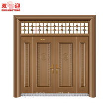 Exterior steel Malaysia galvanized steel door with window