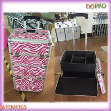 Zebra Printing 2 in 1 Trolley Hair Stylist Beauty Tool Case (SATCMC015)