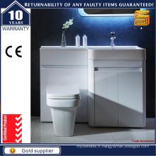 Cabines de bain MDF à laque blanche à haute brillance pour style australien