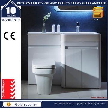 Cabinas de baño de MDF lacado blanco brillante para estilo australiano