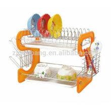 Prato de plástico de cozinha de tipo 9, prateleira de drenagem, prateleira dupla, prateleira de drenagem, prateleira de armazenamento de talheres