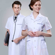 Uniforme de color blanco de Hospital Doctor & Lab