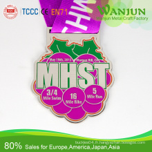 Médailles du sport en métal personnalisées Pas de commande minimale