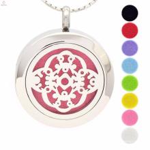Großhandelsart und weise ätherisches Öl Aromatherapie Medaillon-hängende Halskette