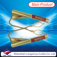 Custom Tie Pin with Chain Tie Bar Tie Holder Tie Clip for Airlines (lzy000162)