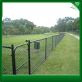 Black galavnized angle post chain link fence